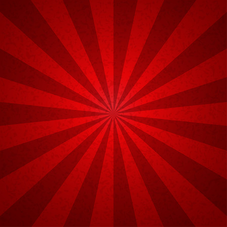 Sunburst red tone vintage  Pattern background. Vector illustration Vettoriali