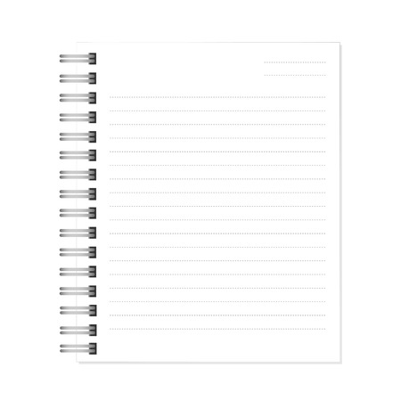 shred: white notebook with dotted lines can shred. vector illustration