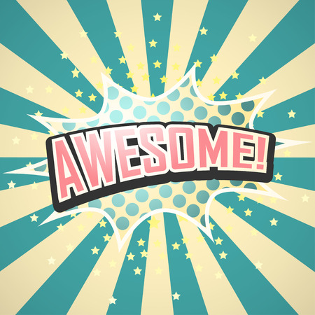 biff: Awesome! Comic Speech Bubble. Vector illustration