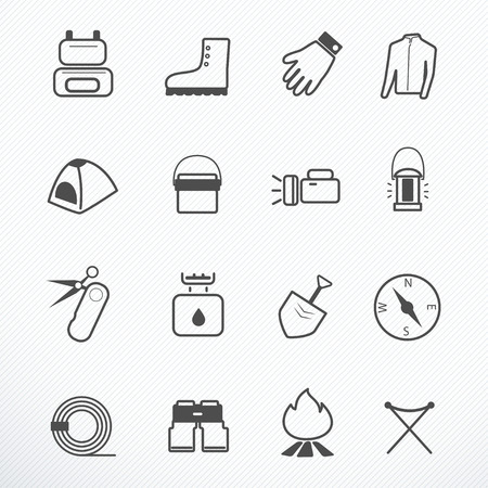 camping equipment: Camping Equipment icon vector illustration