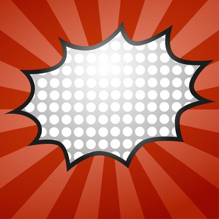 zonk: Comic Speech Bubble, Vector illustration