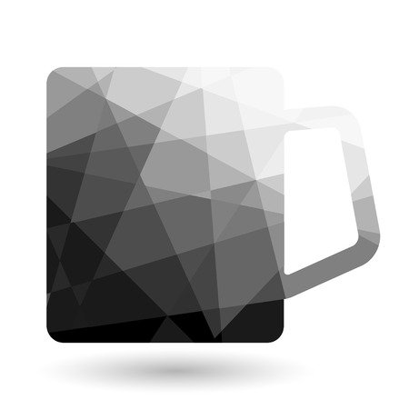 cofe: Cup polygonal  abstract on white backgrounds Vector illustration. Illustration