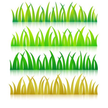 草のカラフルなベクトル図