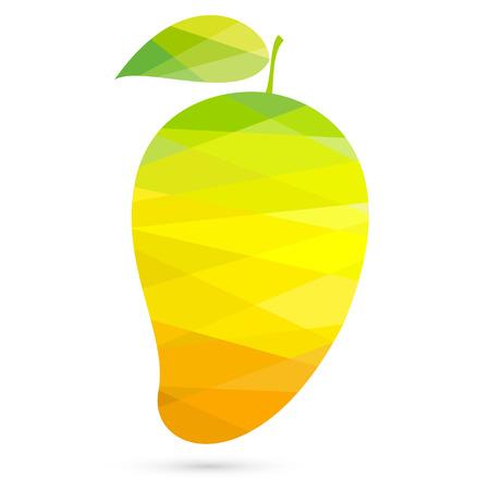 venereal: Mango polygonal style creative vector illustration