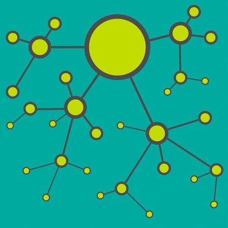 Molecular Abstract background, Vector illustration Vector