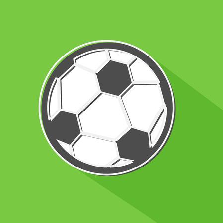 offside: Soccer ball shadow icon, vector illustration Illustration