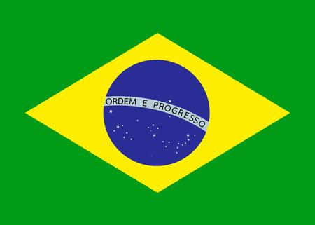 ブラジルの国旗  イラスト・ベクター素材