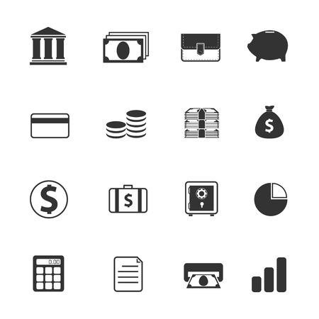 piggy bank money: Banking icons