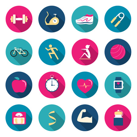 Fitness color icons