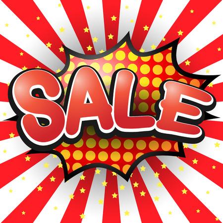 zonk: Sale. Comic Speech Bubble. Vector illustration.