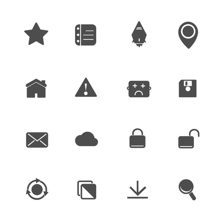 Web Application Icons Set Vector