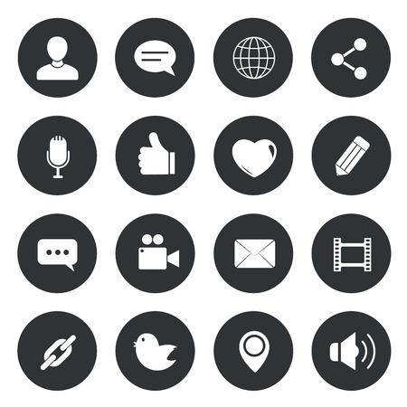 icono computadora: Iconos del c�rculo de Chat. ilustraci�n vectorial. Vectores