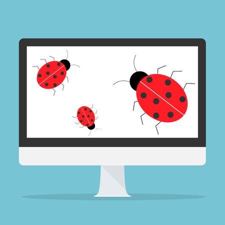 programmers: Computer bug concept.