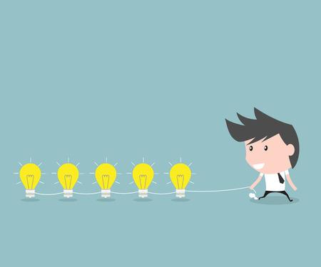 to gather: Businessmen gather ideas