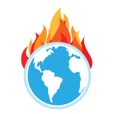 Global warming. Fire on Earth