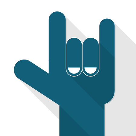 Hand sign i love you. Sign language Vectores
