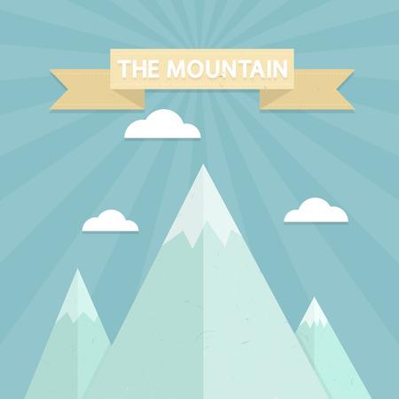 Mountain flat design concept. Vector