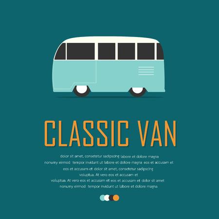 imperfections: Vintage van car poster.