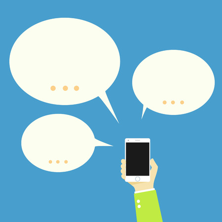 chat bubbles: Mobile Speech bubbles chat Illustration