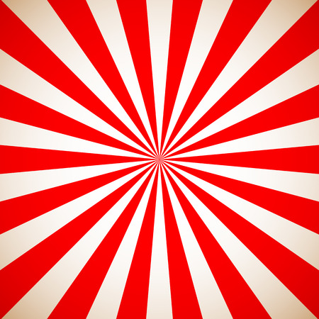 Sunburst Retro Red Pattern. Vector illustration