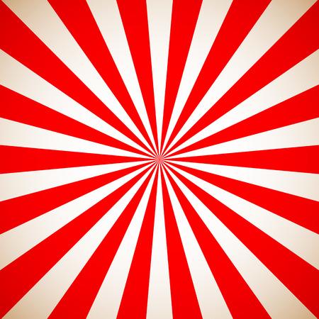 Zonnestraal Retro Rood Patroon. Vector illustratie Stock Illustratie