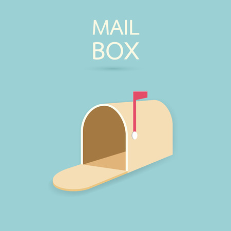mail delivery: Mail box Illustration