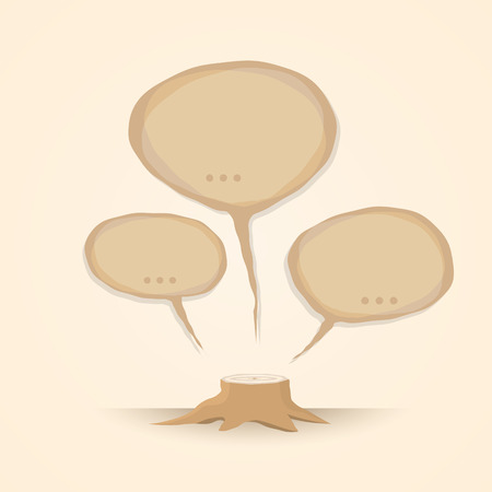 deforestacion: Detener la deforestación. me encanta el concepto de la Tierra Vectores