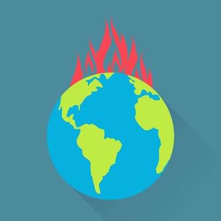 calentamiento global: El calentamiento global concepto  Vectores