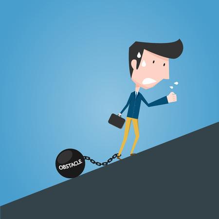 Obstacle concept Illustration