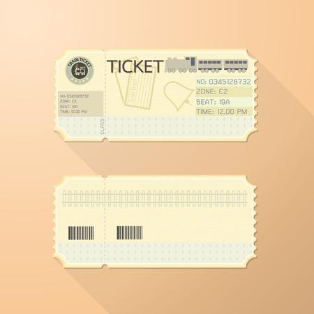 Retro Train Ticket Card Classic design