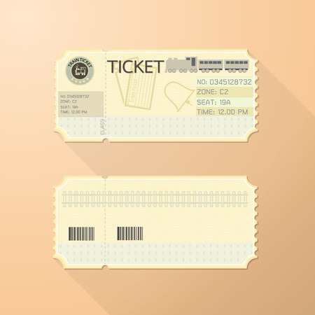 trains: Retro Train Ticket Card Classic design