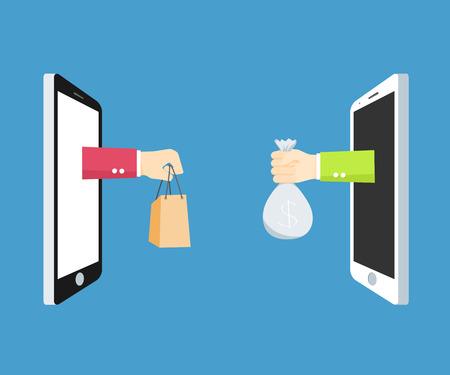 Concepto de marketing móvil Ilustración de vector