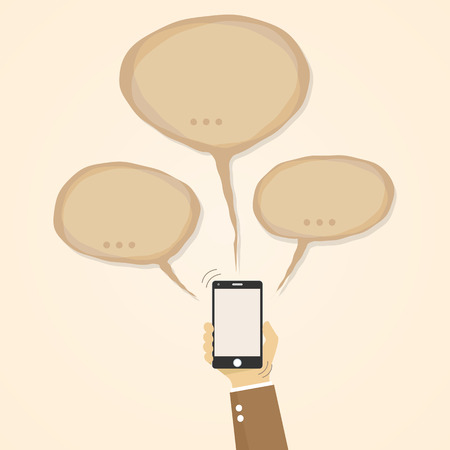 chat bubbles: Mobile Speech bubbles chat design