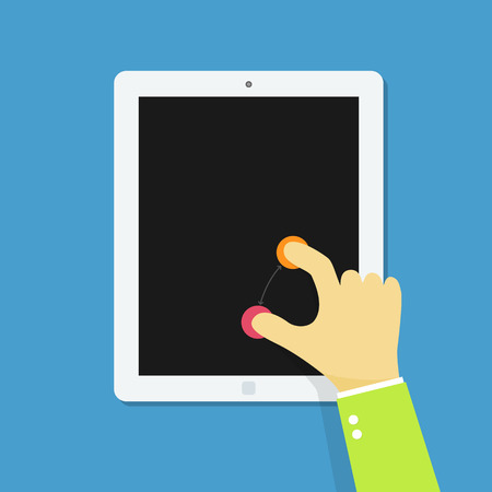 toque: M�o tablet multi touch.