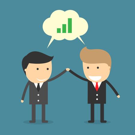 ビジネスマンのコラボレーション  イラスト・ベクター素材