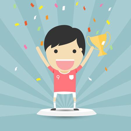 ganador: Ganador del concepto de dibujos animados podio