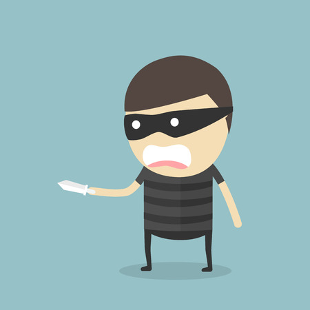 looting: Robber held knife