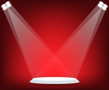 inauguracion: Párese en el escenario rojo