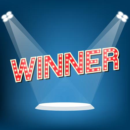 Winner on stage