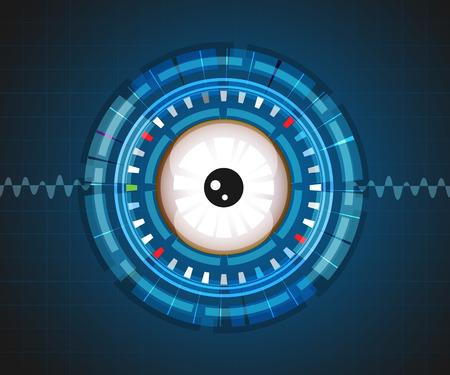 digital eye: Eye background digital graphic