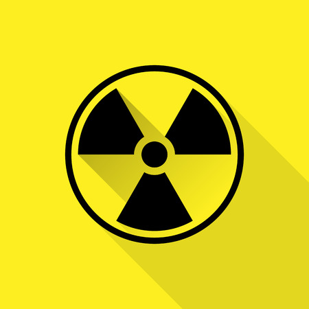 nuclear sign: Nuclear sign. Vector illustration