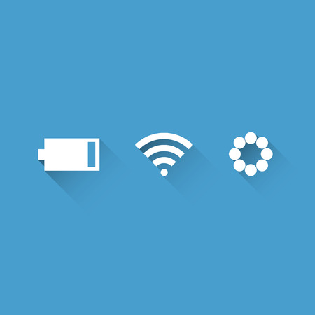 rush hour: Warning sign of smartphone. icon concept Vector