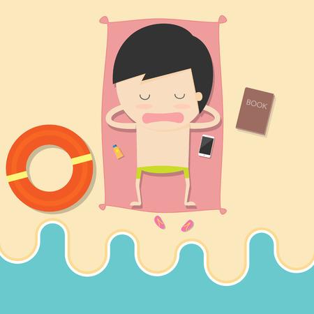 d�tente: relaxation de vacances d'�t�