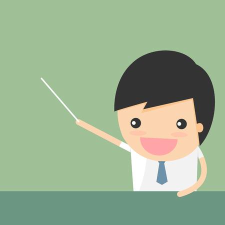 teamwork cartoon: Businessman presentation
