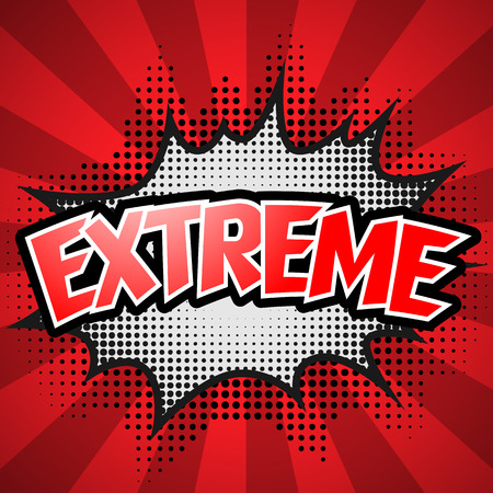 biff: Comic Speech Bubble. Red Extreme. Vector illustration Illustration