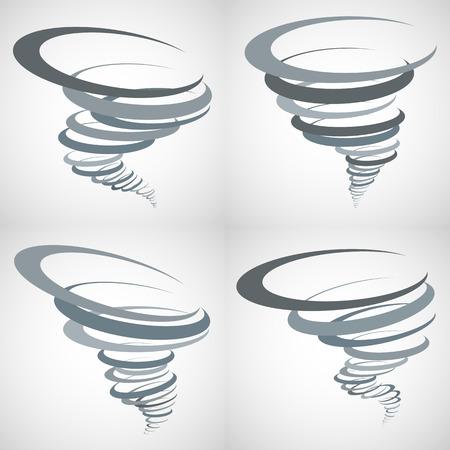 Abstract Tornado Storm set Vectores