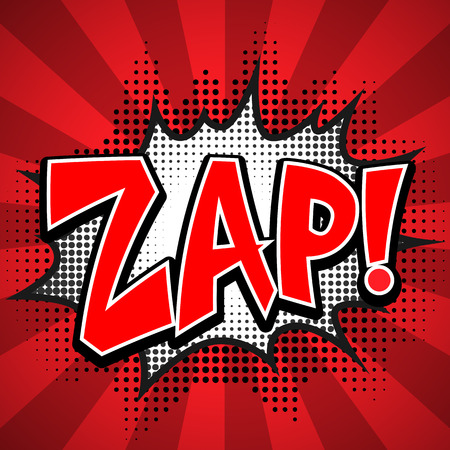 zonk: zap comic speech Bubble. Vector illustration