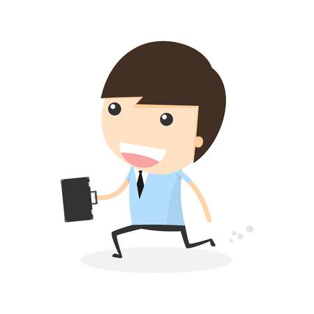 businessman running: Businessman Running Illustration