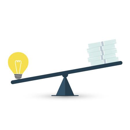 balanza de la justicia: Valor de la idea Vectores