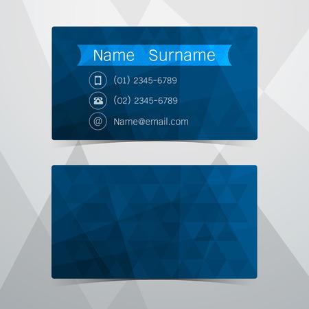 blue design: Business Cards blue design. Vector illustration